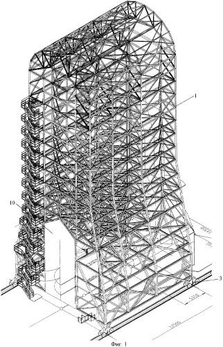 Мобильная башня обслуживания (варианты)