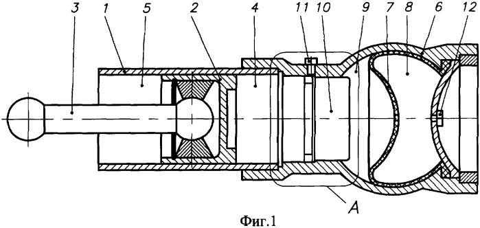 Пневмогидравлическая рессора подвески транспортного средства