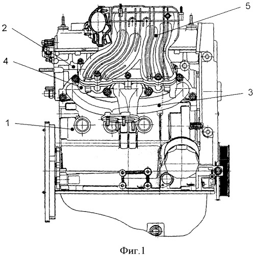 Многоцилиндровый двигатель внутреннего сгорания