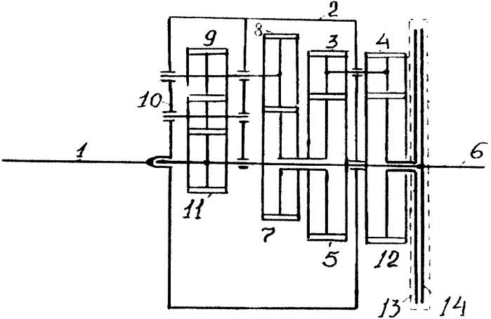 Регулятор оборотов двигателя транспортного средства с преобразователем передаточного отношения трансмиссии, зависящим от нагрузки на выходном валу