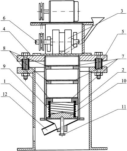 Вертикальная вибрационная мельница
