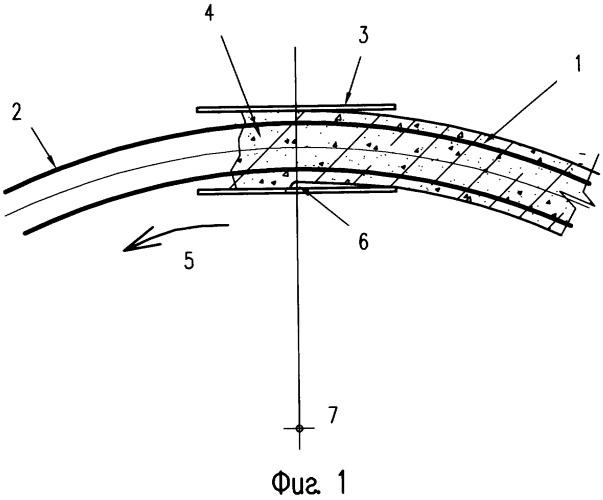 Способ сооружения железобетонного барьера безопасности на кривой
