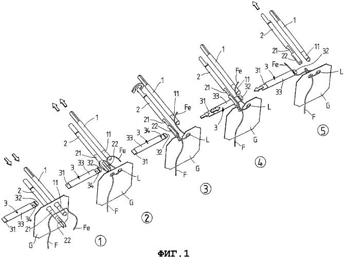 Способ и устройство для завязывания узлом конца нити на плоском объекте