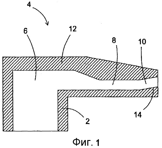 Сопло решетки реактора с псевдоожиженным слоем