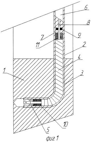 Устройство для вторичного вскрытия залежи перфорационными каналами