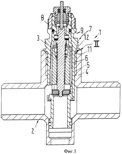 Составной радиаторный клапан