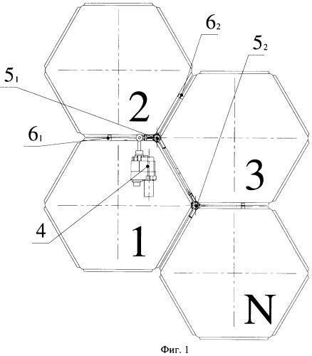 Трансформируемая в плоскость крупногабаритная конструкция