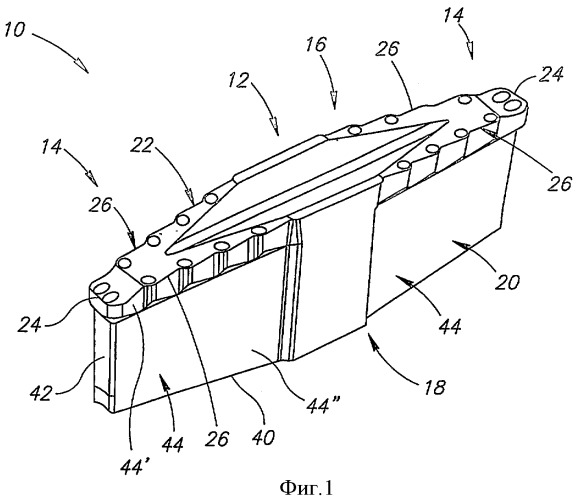 Режущая пластина для операций прорезания канавок
