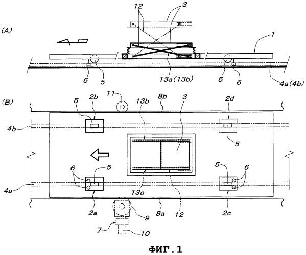 Транспортирующее устройство с поднимаемой/опускаемой платформой