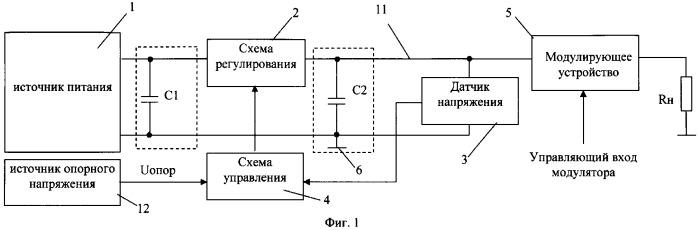 Высоковольтный импульсный модулятор со стабилизацией амплитуды импульсов и электронный ключ для него (варианты)