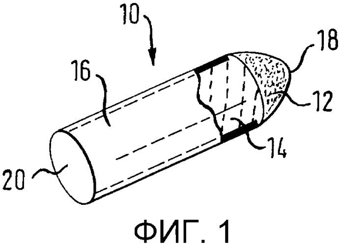 Упакованный, закрытый пленкой тампон