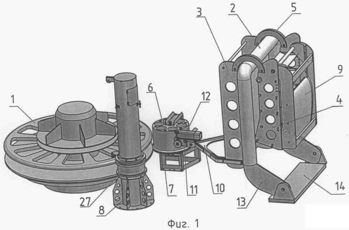 Спускоподъемное устройство буксируемой линии