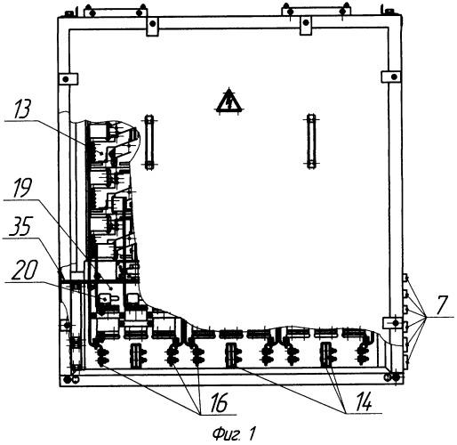 Силовой полупроводниковый преобразователь для тепловоза с питанием трехфазным переменным током от синхронного дизель-генератора с системой вертикального воздушного охлаждения