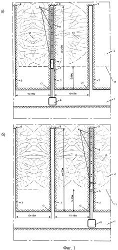 Комбинированный способ разупрочнения угольного массива и устройство для его осуществления