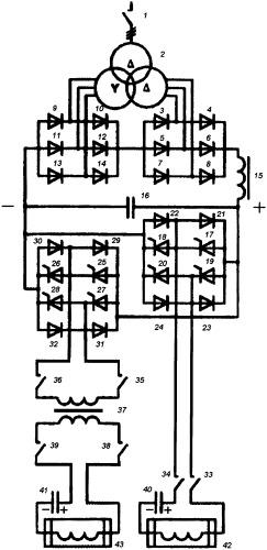 Устройство для проведения комбинированного электротехнологического процесса на основе последовательных инверторов напряжения