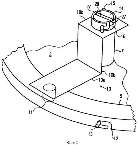 Устройство для фиксации зажимного кольца на транспортировочных контейнерах