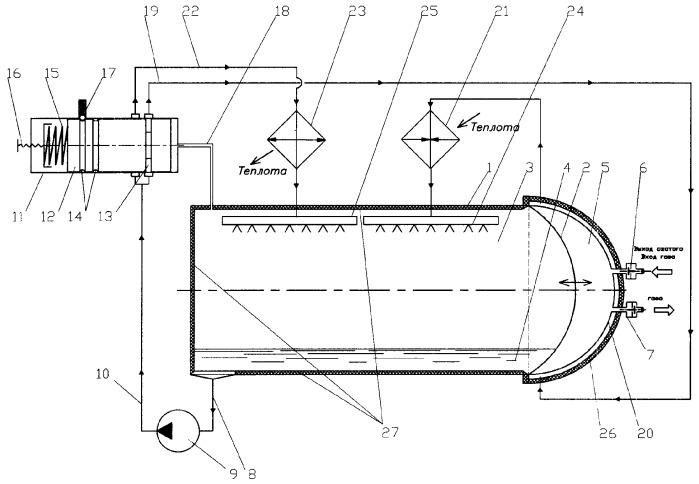 Устройство изменения давления газа в камере пневмопривода