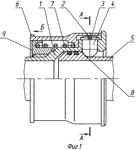 Быстроразъемное соединение трубопроводов