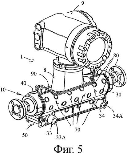 Теплообменник для термостатирования проточного измерительного прибора