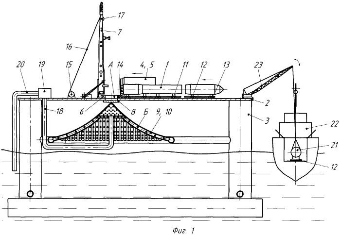 Морская платформа для запуска ракет и способ подготовки ракеты к запуску
