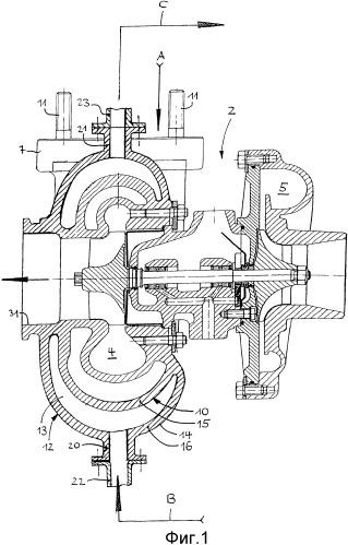 Силовая установка с двигателем внутреннего сгорания с наддувом