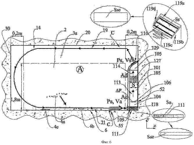 Способ и устройство вентиляции и воздушного обеззараживания путем перемешивания с приточным и вытяжным потоками, настилающимися за счет эффекта коанды