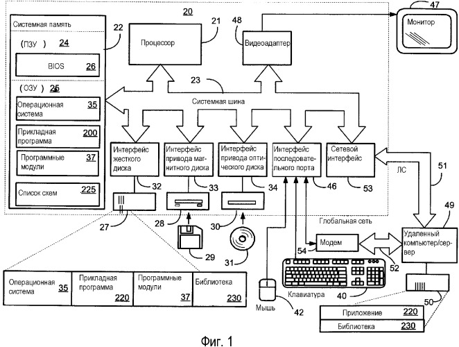 Способ и система для расширения функциональных возможностей вставки для компьютерного прикладного программного обеспечения