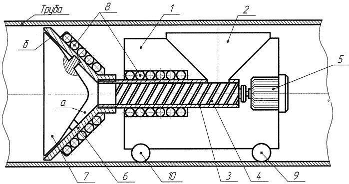 Машина для нанесения защитного покрытия на внутреннюю поверхность трубопровода