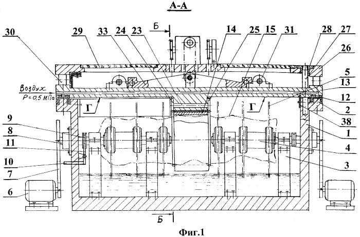 Камнеобрабатывающий многодисковый станок с двойным модулем вращения и рабочей подачи заготовок
