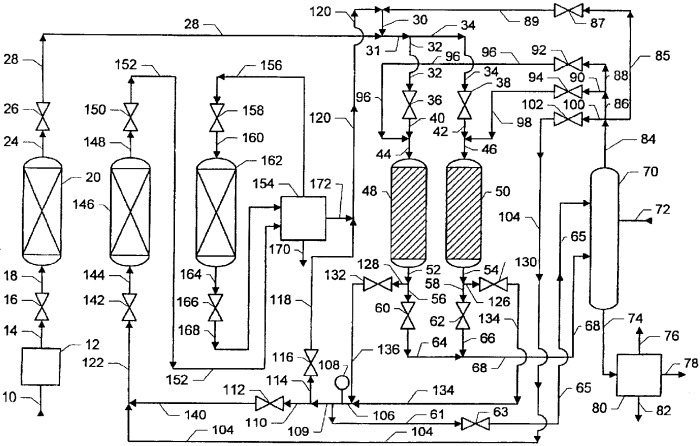 Алкилароматический способ с регенерацией твердого катализатора и с удалением ароматических побочных продуктов