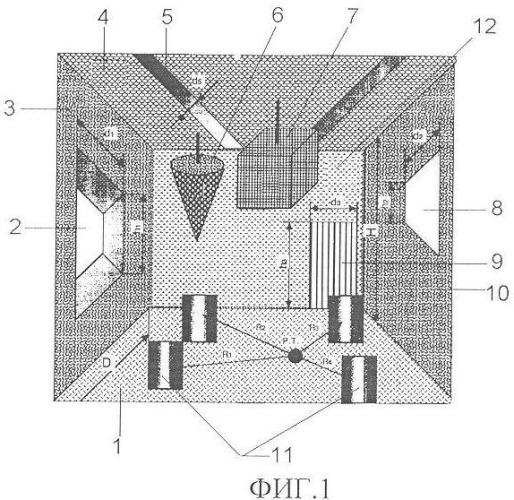 Звукопоглощающий штучный элемент производственного помещения