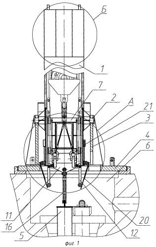 Установка для перемещения и разделки на фрагменты пеналов с облученным графитом уран-графитовых атомных реакторов