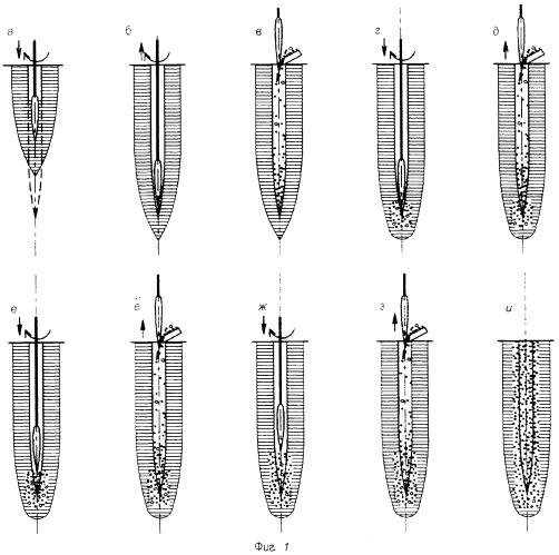 Способ изготовления в раскатанных скважинах набивной сваи из шлаков