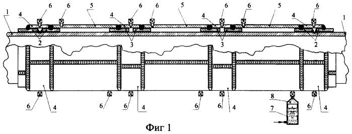 Способ ремонта протяженных участков действующих трубопроводов
