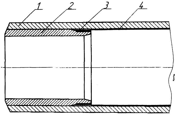 Способ подготовки концов труб с внутренним полимерным покрытием под сварку
