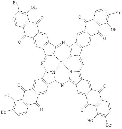 Тетра-6-[4-(гексилокси)бензоилокси]антрахинонопорфиразин меди