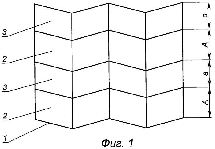 Способ изготовления шевронного заполнителя с площадками контакта