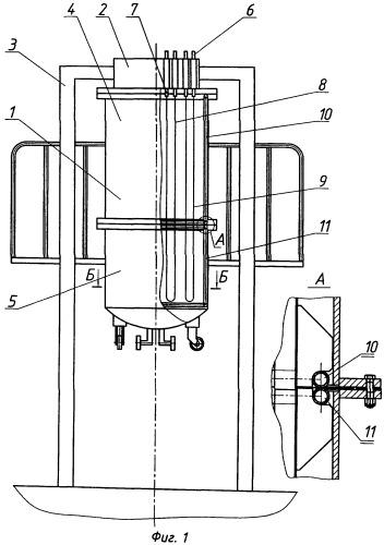 Установка для получения стержней поликристаллического кремния