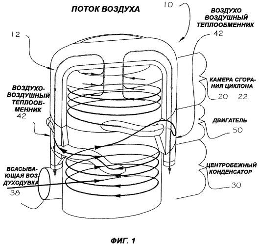 Двигатель с регенерацией тепла