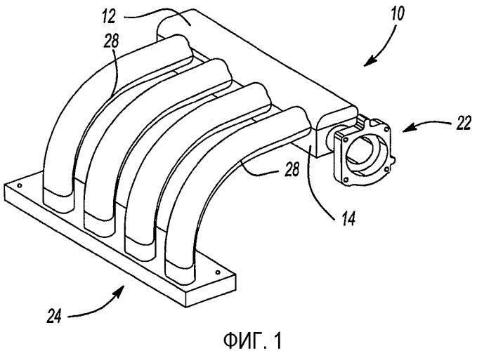 Способ изготовления впускного коллектора для автомобильного двигателя