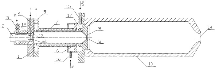 Водородный высокотемпературный парогенератор с комбинированным охлаждением камеры сгорания