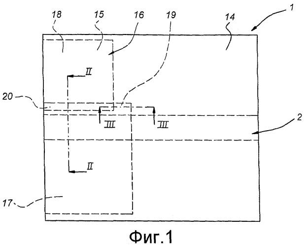 Структура соединения в слоистом материале, содержащем локальное армирование