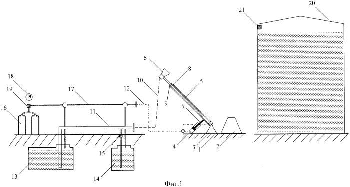 Система пожаротушения в вертикальных резервуарах