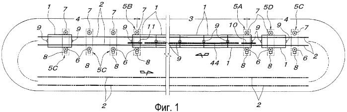 Конвейерное устройство несущего типа (варианты)