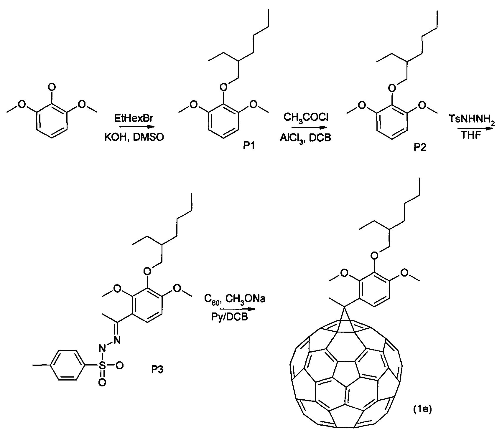 1 4 fullerene addends in photovoltaic cells